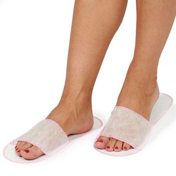 Одноразовые тапочки с открытым носком упаковка Hairmaster 100 шт.