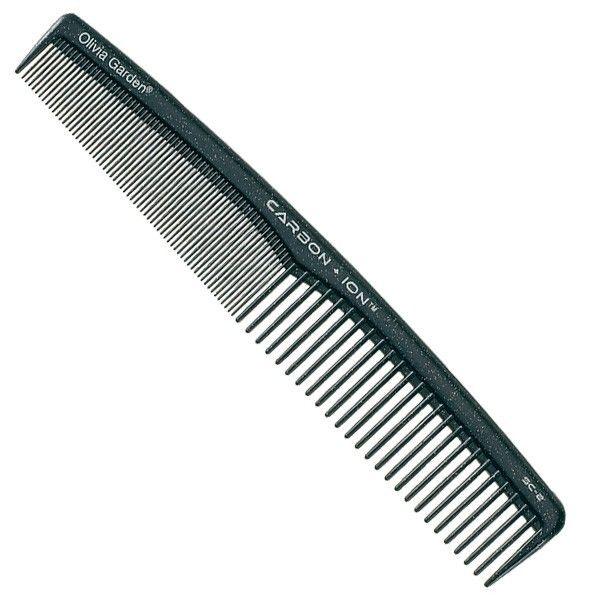 Скошенная расческа Olivia Garden Carbon Ion Comb SC-2