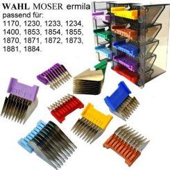 Набор стальных насадок MOSER 3,6,10,13,16,19,22,25 мм для аккумуляторных машинок MOSER артикул 1233-7050 фото, цена pr_13630-02, фото 2