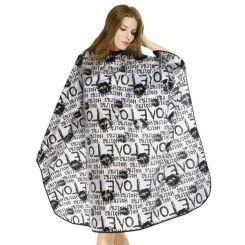 Пеньюар HAIRMASTER LOVE серый 138X150 артикул 890815 GRE фото, цена pr_16012-01, фото 1