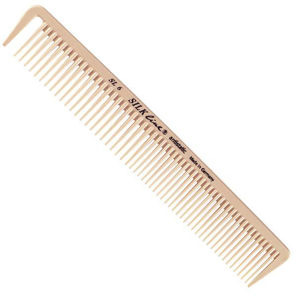 Силиконовая расческа для тушевки с зубцом Silkline SL 06